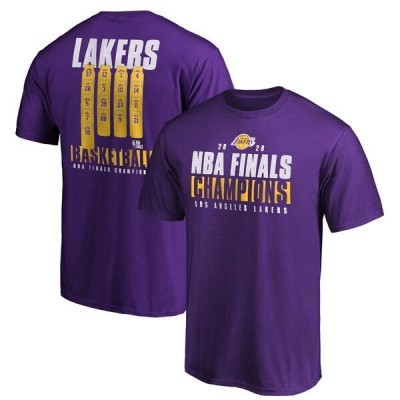 レイカーズ Tシャツ tシャツ NBA 2020NBAファイナル優勝記念 パープル NBAファイナル2020