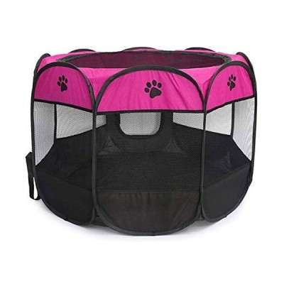BEIKOTT Pet Playpen, Foldable Dog Playpens, Portable Exercise Kennel Tent f