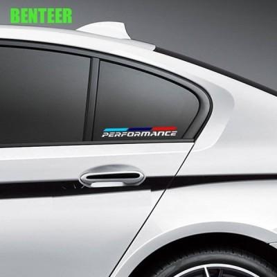BMW 2個入 ステッカー Mパワー リアガラス 窓 E30 E34 E36 E39 E46 E60 E87 E90 F10 F20 F30 E80 E70