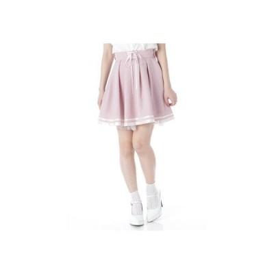 裾ラインスカート (ピンク)