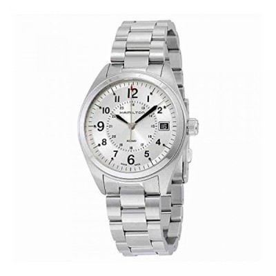 ハミルトン 腕時計 メンズウォッチ Hamilton Men's H68551153 Khaki Field Analog Display Swiss Quartz Silver Watch