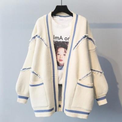ニットカーディガン セーター アウター 韓国スタイル