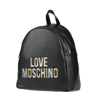 ラブ モスキーノ LOVE MOSCHINO バックパック&ヒップバッグ ブラック ポリウレタン バックパック&ヒップバッグ