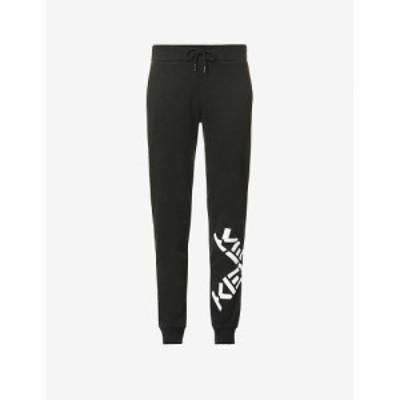 ケンゾー KENZO レディース ジョガーパンツ ボトムス・パンツ Logo-print tapered mid-rise cotton-jersey jogging bottoms BLACK