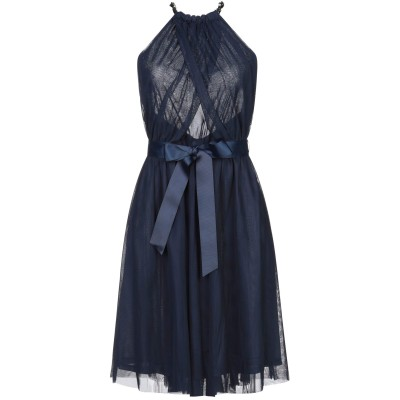 レリッシュ RELISH ミニワンピース&ドレス ダークブルー XS ポリエステル 100% ミニワンピース&ドレス