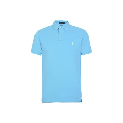 POLO RALPH LAUREN ポロシャツ アジュールブルー XXL コットン 100% ポロシャツ