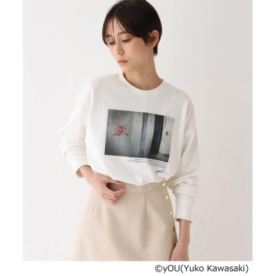 AG by aquagirl(エージー バイ アクアガール) 【コラボアイテム】Photographer yOUフォトプリントロングスリーブTシャツ