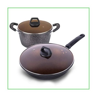 Pots And Pans Set Nonstick, Pro. Series Nonstick Hard Anodized Cookware Sets With Stone Interior, Stone Pots And Pans With Straining Lid & P