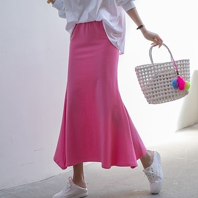 [nak21] 今買い足すべきはレディムード満点のマーメイドスカート気心地いマーメイドースカート