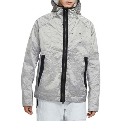 ナイキ NIKE メンズ ジャケット フード アウター Sportswear Tech Pack Water Repellent Hooded Jacket Metallic Silver/Black