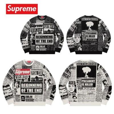 Supreme シュプリーム Newsprint Sweater セーター トレーナー 2018-19年秋冬