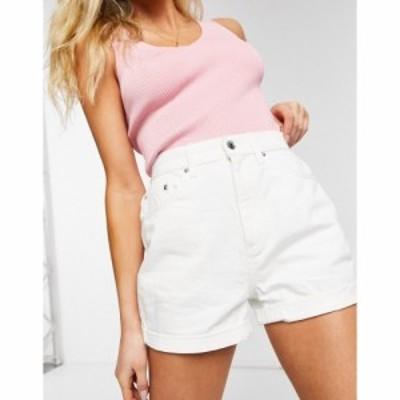 エイソス ASOS DESIGN レディース ショートパンツ デニム ボトムス・パンツ Asos Design Denim High Rise Slouchy Mom Shorts In White