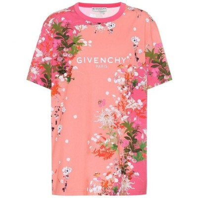 ジバンシー Givenchy レディース Tシャツ トップス Floral cotton-jersey T-shirt Light Pink