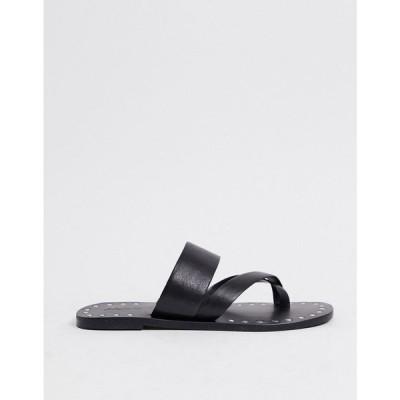 アルド ALDO レディース サンダル・ミュール シューズ・靴 Aldo Toe Loop Sandals In Black ブラック