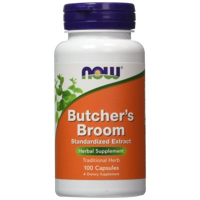 ナウフーズ Now Foods Butcher's Broom - 100 Capsules ブッチャーズブルーム