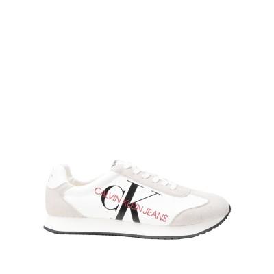 YOOX - CALVIN KLEIN JEANS スニーカー&テニスシューズ(ローカット) ホワイト 40 合成繊維 52% / コットン 48%