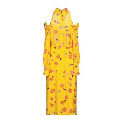 アルチュザラ ALTUZARRA 7分丈ワンピース・ドレス イエロー 40 シルク 100% / コットン 7分丈ワンピース・ドレス