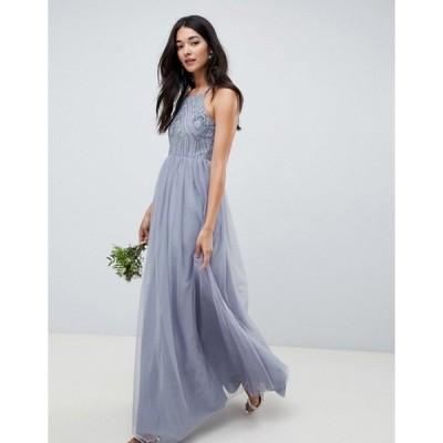 エイソス レディース ワンピース トップス ASOS DESIGN bridesmaid delicate embellished strappy maxi dress