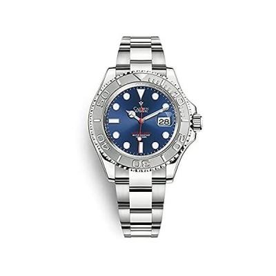 CADISEN New Men Watches Mechanical Automatic NH35A Blue Watch Men 100M Wate