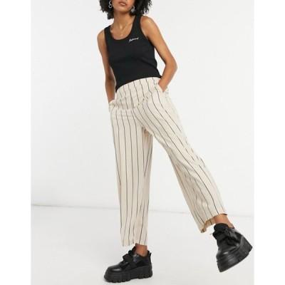 ヴィラ レディース カジュアルパンツ ボトムス Vila wide leg suit pants in multi stripe