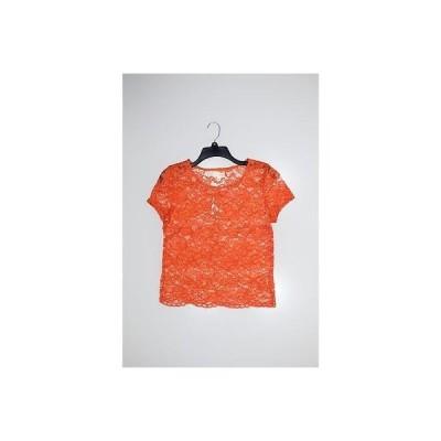 メイソン ジュール ブラウス シャツ トップス Maison Jules レディース Top Basic Tee S オレンジ Lace Trim Lace Regular LAFO