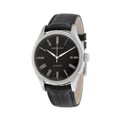 腕時計 ハミルトン Hamilton Valiant オートマチック ブラック ダイヤル レザー メンズ 腕時計 H39515734