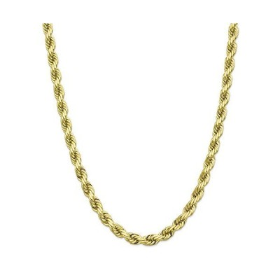 10k Yellow Gold 8mm Diamond-Cut Rope Chain Necklace Lobster Clasp 22inch Gift for Valentine's Day