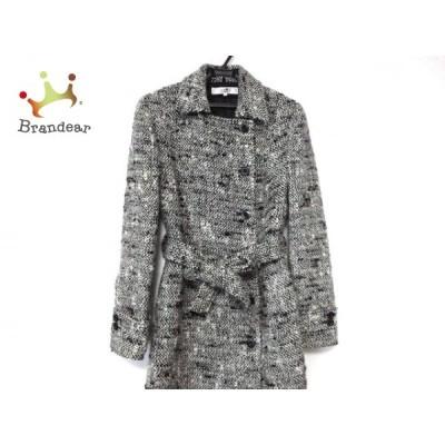 ニジュウサンク 23区 コート サイズ40 M レディース - 黒×白 長袖/冬  値下げ 20210323