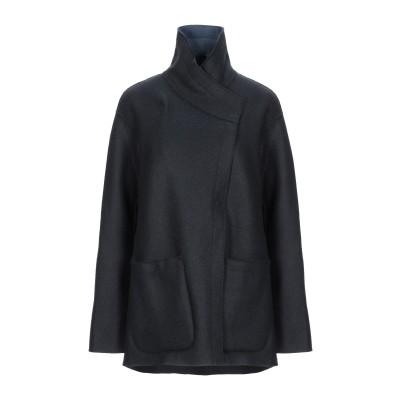 FRAUENSCHUH コート ブラック 0 バージンウール 98% / ナイロン 2% コート