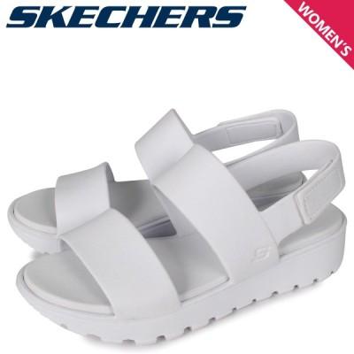 SKECHERS スケッチャーズ サンダル スポーツサンダル レディース FOOTSTEPS-BREEZY FEELS ホワイト 白 111054