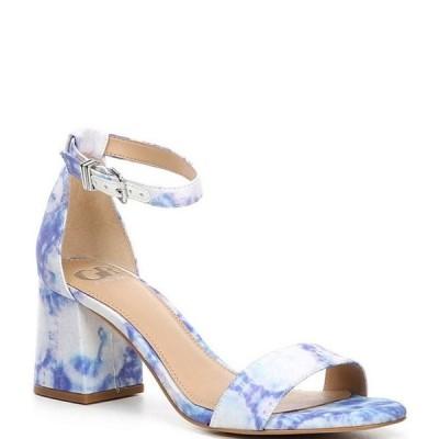 ジービー レディース サンダル シューズ Block-Party Tie-Dye Print Matte Satin Two-Piece Sandals