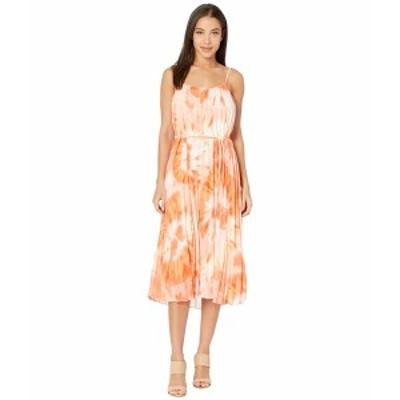 アメリカンローズ レディース ワンピース トップス Portia Pleated Floral Midi Dress Ivory/Coral