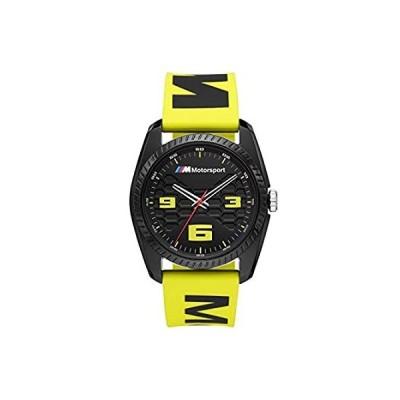 特別価格BMW Men's M Motorsport Quartz Watch with Silicone Strap, Yellow, 24 (Model:好評販売中