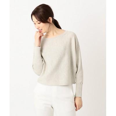 <ICB L(Women)/アイシービーL> 大きいサイズ Hi Twist Silk CottonII ニット(KRCMKM0314) クリーム【三越伊勢丹/公式】