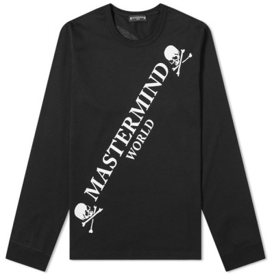 マスターマインド MASTERMIND WORLD メンズ 長袖Tシャツ ロゴTシャツ トップス Long Sleeve Big Logo Tee Black