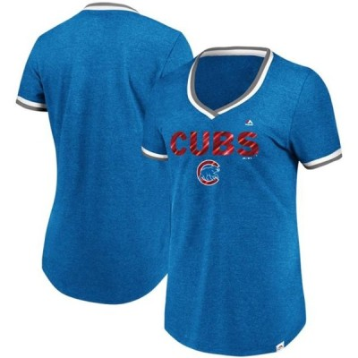 レディース スポーツリーグ メジャーリーグ Chicago Cubs Majestic Women's Driven By Results T-Shirt - Royal Tシャツ