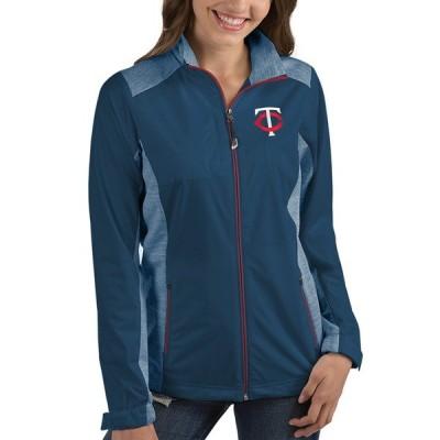 アンティグア ジャケット&ブルゾン アウター レディース Minnesota Twins Antigua Women's Revolve FullZip Jacket Charcoal