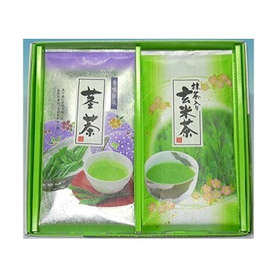 銘茶詰合せ H-10 茎茶80g・抹茶入り玄米茶80g 計2本詰 進物 日本茶