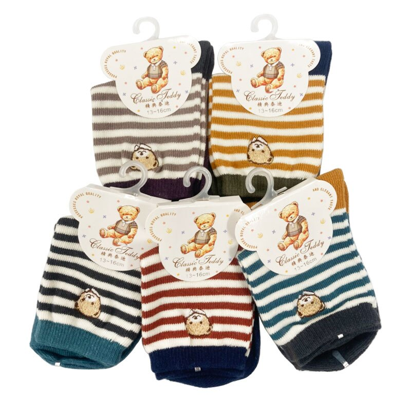 泰迪熊 精繡童襪13-16cm(顏色隨機出貨)CT-3281★衛立兒生活館★