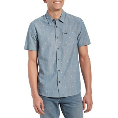 ボルコム メンズ シャツ トップス Volcom Archive Mark Short-Sleeve Shirt Stormy Blue