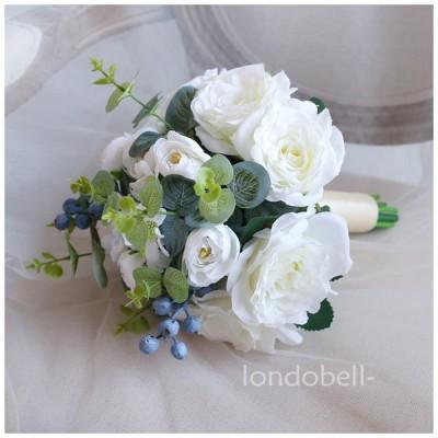 【lond-】全5色 ウエディングブーケ 造花 ブーケ 手作り サテンブーケ 花嫁 結婚式 二次会 披露宴 ブライダルブーケ 手首の花
