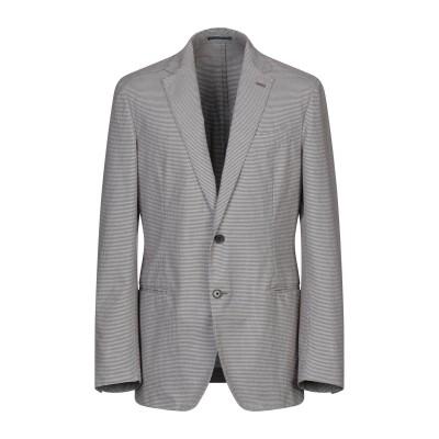 ラルディーニ LARDINI テーラードジャケット ダークブラウン 52 コットン 100% テーラードジャケット