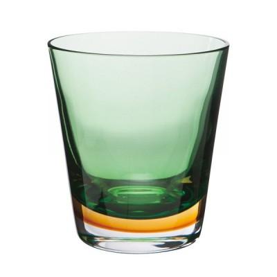 緑と黄金色の2層 グラス オールドタイプ