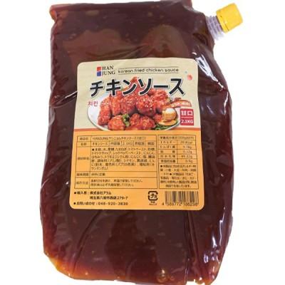 韓国 ヤンニョムチキンソース 甘口 2.1kg ハチミツ入り HANJUNG 韓国風フライドチキンソース