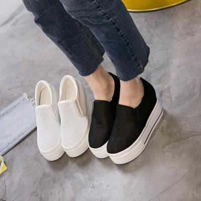 レディース 帆布 通気性 くつ インヒール 増加する キャンバス カジュアル 増やす おしゃれ 透気良い 靴 女性用 女子 セール 40代 20代 3