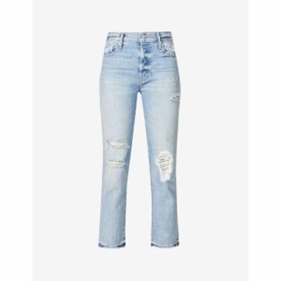 マザー MOTHER レディース ジーンズ・デニム ストレート ストレッチ デニム The Scrapper Ankle Straight Stretch-Denim Jeans Wicked Wi