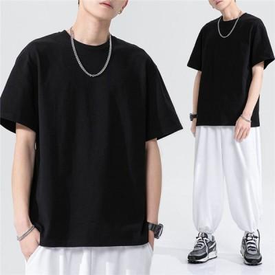 Tシャツ tシャツ メンズ  半袖 トップス 五分袖 クルーネック カットソー 学生 通学 プレゼント ギフト 無地