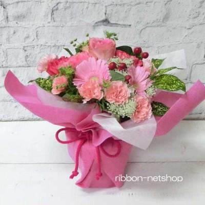 【6月限定】【送料無料】誕生日に贈る♪バラと季節のお花のスタンディングブーケ(生花) FL-6GT-2