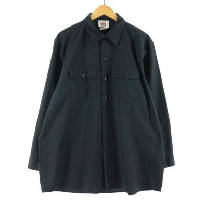 ディッキーズ Dickies 長袖 ワークシャツ USA製 メンズL /eaa132463