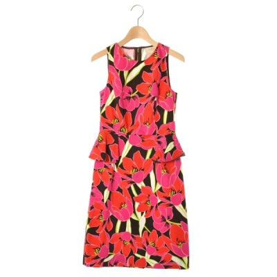 kate spade new york tropical peplum sheath ドレス ワンピース 0 ピンク ケイトスペード